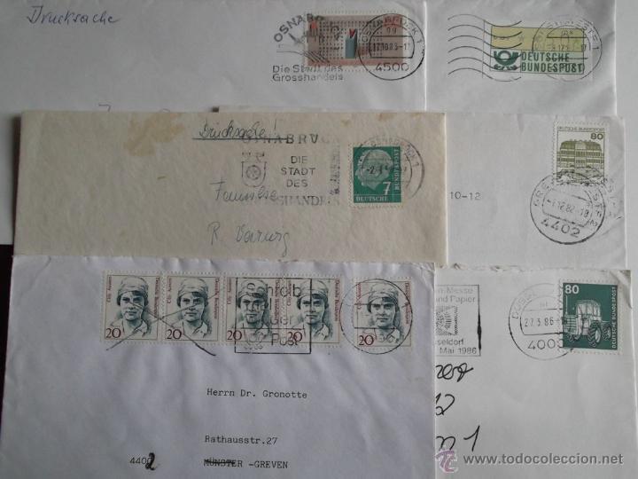 6 SOBRES MATASELLADOS DE ALEMANIA. REF: T08 (Sellos - Historia Postal - Sello Español - Sobres Circulados)