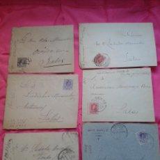 Sellos: LOTE DE 6 SOBRES CIRCULADOS DE SALAS - OVIEDO. ASTURIAS. DE 1897 A 1930.. Lote 53450260