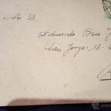 Sellos: SOBRE CIRCULADO VALENCIA - ALCOY, SELLO 40CTS. Lote 53755554