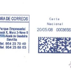 Sellos: SOBRE COMPLETO. FRANQUEO MECÁNICO AZUL. ENTIDAD COLABORADORA MAILINGANDALUCIA. 000365835.ES 41006. Lote 54000098