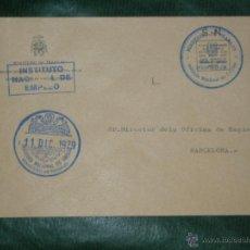 Sellos: SOBRE FRANQUICIA INSTITUTO NACIONAL DE EMPLEO - MINISTERIO DE TRABAJO 1979 LA LINEA DE LA CONCEPCION. Lote 54390072