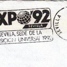 Sellos: SOBRE COMPLETO. MATº RODILLO EXPO'92 SEVILLA, SEDE DE LA EXPOSICIÓN UNIVERSAL 1992. SEVILLA. Lote 54495436