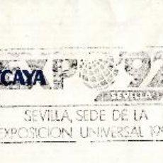 Sellos: SOBRE COMPLETO. MATº RODILLO EXPO'92 SEVILLA, SEDE DE LA EXPOSICIÓN UNIVERSAL 1992. LA LINEA. Lote 54495965