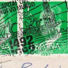 Sellos: SOBRE COMPLETO. MATº RODILLO SEVILLA CAPITAL DEL NUEVO MUNDO 1492 1992. (BARCOS). Lote 54524558