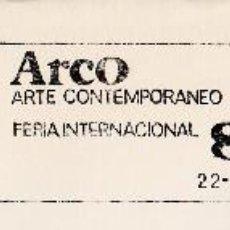 Sellos: SOBRE COMPLETO. MATº RODILLO ARCO ARTE CONTEMPORANEO FERIA INTERNACIONAL 85. Lote 54526270