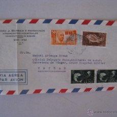 Timbres: CARTA CIRCULADA - VIA AEREA 1956 - CONSIGNATARIOS DE BUQUES - DE SIDI IFNI A TETUAN.. Lote 54564795