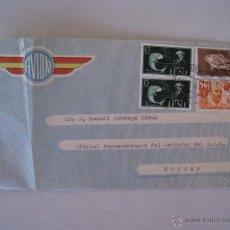 Timbres: CARTA CIRCULADA - VIA AEREA 1956 - AGRUPACION DE IMPORTADORES - DE SIDI IFNI A TETUAN.. Lote 54564912