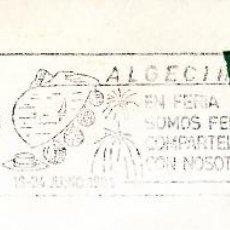 Sellos: SOBRE COMPLETO. MATº RODILLO 'ALGECIRAS EN FERIA SOMOS FELICES. COMPARTELA CON NOSOTROS. 1984. Lote 54594620