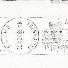 Sellos: SOBRE COMPLETO. MATº RODILLO 'MISTERIO DE ELCHE. SIGLO XIII. REPRESENTACIONES DEL 10 AL 15 DE AGOSTO. Lote 54594714
