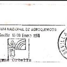 Sellos: SOBRE COMPLETO. MATº RODILLO '1ER SYMPOSIUM NACIONAL DE AGROQUIMICOS. SEVILLA 13-20 ENERO 1994'. Lote 54594930