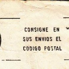 Sellos: SOBRE COMPLETO. MATº RODILLO 'CONSIGNE EN SUS ENVIOS EL CODIGO POSTAL' LAREDO (CANTABRIA) 9 DIC.1986. Lote 54594989