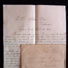 Sellos: SOBRE CIRCULADO 1902 A VALENCIA SELLO ALFONSO XIII CADETE 15 CÉNTIMOS. COMPLETA . Lote 60396471