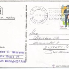 Timbres: MADRID TARJETA AJEDREZ CHESS SELLO AMERICA UPAEP TRAJE CHARRO . Lote 55005663