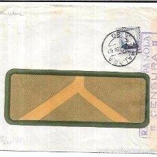 Sellos: SOBRE CON CENSURA MILITAR DE LA REPUBLICA. MALAGA.. Lote 55732545
