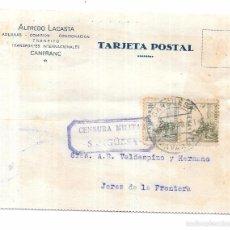 Sellos: CENSURA MILITAR SANGUESA, NAVARRA. 1939.. Lote 68408034