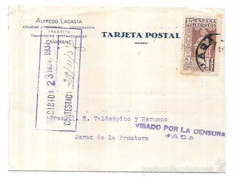 CENSURA MILITAR JACA. 1937. (Sellos - Historia Postal - Sello Español - Sobres Circulados)