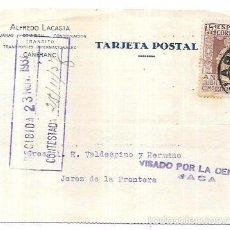 Sellos: CENSURA MILITAR JACA. 1937.. Lote 55821400