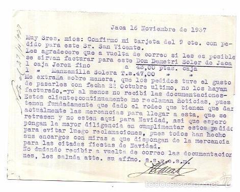 Sellos: CENSURA MILITAR JACA. 1937. - Foto 2 - 55821400