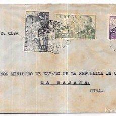 Sellos: SOBRE DIRIGIDO DESE EL CONSULADO GENERAL DE CUBA EN BARCELONA. AL MINISTERIO DE ESTADO.. Lote 57336668