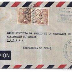 Sellos: SOBRE DEL CONSULADO DE CUBA EN ESPAÑA. AL MINISTRO DE ESTADO EN CUBA.. Lote 57336811
