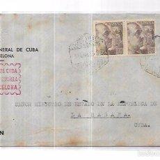 Sellos: SOBRE DEL CONSULADO DE CUBA EN BARCELONA. AL MINISTRO DE ESTADO DE CUBA.. Lote 57336845