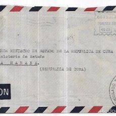 Sellos: SOBRE DE CONSULADO DE CUBA DE LA CORUÑA. A MINISTRO DE ESTADO DE LA REPUBLICA DE CUBA.. Lote 57337347