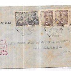 Sellos: SOBRE DE CONSULADO DE CUBA EN BARCELONA. A MINISTRO DE ESTADO DE LA REPUBLICA DE CUBA.. Lote 57337355