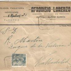 Sellos: PLASENCIA CACERES CC SELLO FRANCO DE PERFIL CON MAT CAJA POSTAL DE AHORROS . Lote 57668330