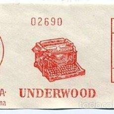 Sellos: FRANQUEO MECANICO 1954 - ESPAÑA - TRUNIGER / UNDERWOOD - MAQUINA ESCRIBIR. Lote 58415960