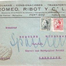 Sellos: SOBRE CIRCULADO PORT BOU AUSTRIA 1930 DOS SELLOS DE ALFONSO XIII. Lote 58522393