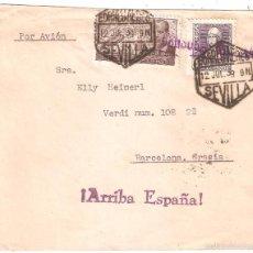 Sellos: SOBRE CIRCULADO SEVILLA AUSTRIA 1939 TRES SELLOS CENSURA MILITAR. Lote 58522495