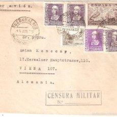 Sellos: SOBRE CIRCULADO BARCELONA AUSTRIA 1939 SEIS SELLOS CENSURA MILITAR. Lote 58522804