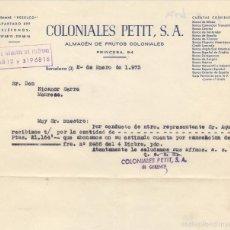 Sellos: TELEGRAMA PESELCO - COLONIALES PETIT S.A. ALMACEN FRUTOS COLONIALES - COLMADO. Lote 58542881