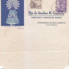 Sellos: VIRGEN DEL PILAR XIX CENTENARIO TARJETA HIJO DE ANSELMO M CONTRERAS PEÑARANDA DE BRACAMONTE. EL CID.. Lote 58621838