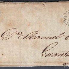 Sellos: 1863 ISLA DE CUBA CARTA CIRCULADA DE BARACOA A GUANTANAMO RRR. Lote 59510981