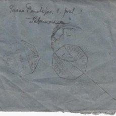 Sellos: 1951. SALAMANCA VALENCIA 2 MATASELLOS HEXAGONALES AMBULANTES VALENCIA VALLADOLID. SOBRE CIRCULADO. Lote 60295363