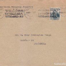 Sellos: VALENCIA PAIS DE LOS NARANJOS...RARO MATASELLOS DE RODILLO EN CARTA CIRCULADA 1935 VALENCIA INTERIOR. Lote 62048852
