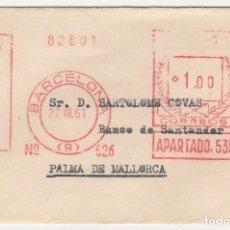 Sellos: SOBRE CIRCULADO (10 X 7). 1961. BARCELONA-MALLORCA. Lote 67192501