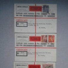 Sellos: LOTE DE 3 REEMBOLSOS. LIBRERÍA GÓNZALEZ. SANTIAGO DE COMPOSTELA.. Lote 67819513