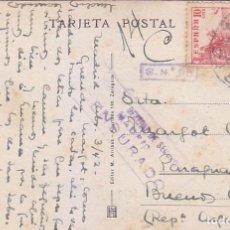 Sellos: RARA CENSURA DIRECCION GENERAL DE SEGURIDAD TARJETA POSTAL CIRCULADA 1942 MADRID-BUENOS AIRES EL CID. Lote 68995833