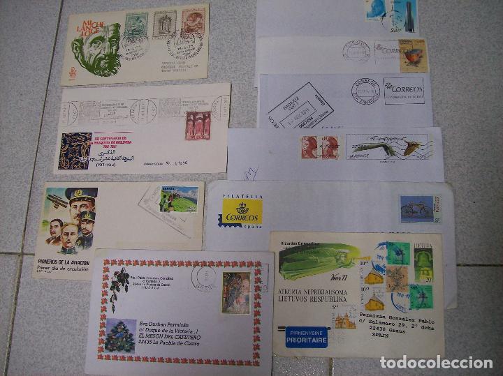 LOTE 10 SOBRES CIRCULADOS Y/O DE MATASELLOS ESPECIALES (Sellos - Historia Postal - Sello Español - Sobres Circulados)