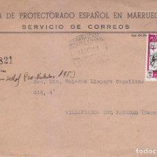 Sellos: MARRUECOS ESPAÑOL CARTA CERTIFICADA 1953 CIRCULADA DE TETUAN A VILLAFRANCA DEL PANADES (BARCELONA). Lote 70353829