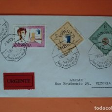 Sellos: SOBRE CIRCULADO -SERIE EXPO. MUNDIAL FILATELIA, JUVENIL-MATASELLO AMB. ZARAGOZA, BILBAO-1974. R-4503. Lote 74143363