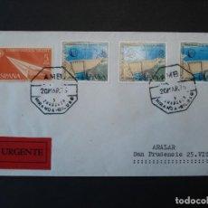 Sellos: GRANDES PRESAS 1973 - COMPLETA EDIFIL 2128 + 1765 - SOBRE CIRCULADO, MATASELLOS AMBULANTE ..R-4530. Lote 74378075
