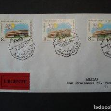 Sellos: PLENIPOTENCIARIOS UIT 1973 - COMPLETA EDIFIL 2145 - SOBRE CIRCULADO, MATASELLOS AMBULANTE ..R-4532. Lote 74378779