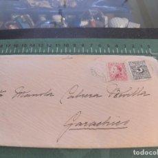 Sellos: SOBRE CON CARTA SELLADA EN LA LAGUNA--CANARIAS. Lote 75881575