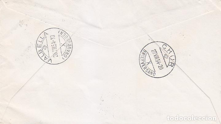 Sellos: UNIVERSIDAD DE SALAMANCA AÑO SANTO COMPOSTELANO 1954 (EDIFIL 1130/31) CARTA CERTIFICADA A SUIZA RARA - Foto 2 - 78210541
