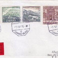 Sellos: PARADORES NACIONALES SERIE TURISTICA 1976 (EDIFIL 2334/39) CARTA MATASELLOS AMBULANTE. LLEGADA. MPM.. Lote 36821677