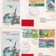 Sellos: PROTECCION DE LA NATURALEZA 1978 (EDIFIL 2469/73) EN DOS RARAS CARTAS. AMBULANTE. MATASELLOS LLEGADA. Lote 44218496