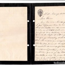 Sellos: CARTA LUTO CASINO DE MADRID 1922. Lote 80250353